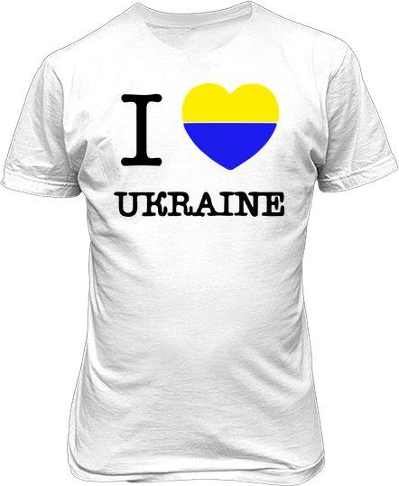 Футболка чоловіча. I love Ukraine dc25c8681f9b0