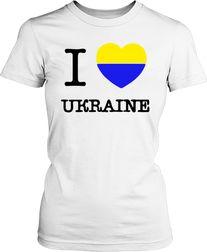 Футболка жіноча. I love Ukraine 6302c8246e2b7