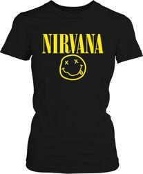 "Футболка жіноча. Nirvana ""Smiley Face"""