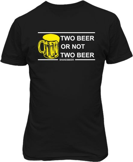 Футболка мужская. Two beer or not two beer.