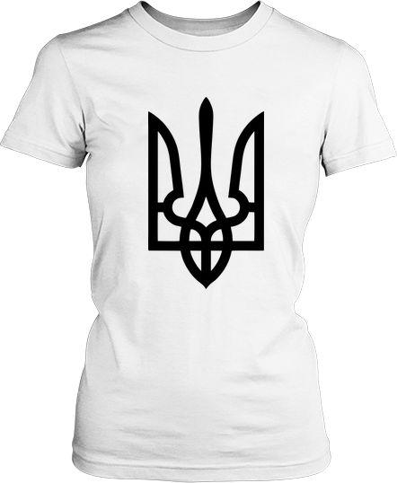 Женская футболка Тризуб класический. Футболки женские Тризуб ... 73eb54562eae1